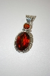 **MBA #20-144  Large Oval Cut Citrine Sterling Pendant