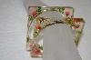 **MBA #20-244  Set Of 2 Square Acrylic Flower Embedded Bangle Bracelets