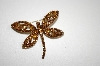 "MBA #20-101  ""Imagine Designs Brown Crystal Dragon Fly Pin"
