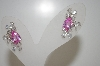**MBA #20-099  Suzanne Somers Pink Pear Cut & Clear CZ Earrings
