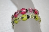 **MBA #20-778  Set Of 2 Pink & Green Lady Bug Stretch Bracelets