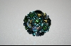 Shades Of Blue & Green Austrian Crystal Brooch