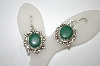 +MBA #20-767  Fancy Setting Sterling Malachite Earrings