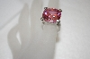 +MBA #20-800  Large Round Cut Pink CZ Ring
