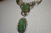 **MBA #20-241  Artist Signed Fancy Green Turquoise Necklace