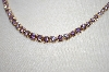 **MBA #20-331  14K Gold Plated Lavender CZ Tennis Style Necklace