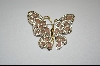 """SOLD""   Nolan Miller Pale Pink Cathedral Butterfly Pin"