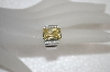 "**MBA #20-052  Designer ""FAS"" Square Cut Canary  Yellow CZ Ring"