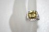 **MBA #20-076  Charles Winston Canary & Clear CZ Ring