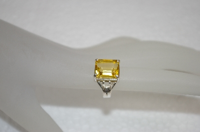 **MBA #20-029  Square Cut Sterling Citrine Ring