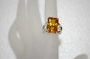 +MBA #20-024  Square Cut Champagne CZ Sterling Ring