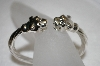 **MBA #20-500  Sterling Double Panther Cuff Bracelet