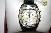 *MBA #21-074 Lucien Piccard Stainless Steel & Diamond Black Strap Watch