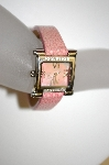 "*MBA #21-093  ""Croton Ladies ""Light Pink"" Stingray Strap Diamond Watch"""
