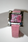 "*MBA #21-435  ""Croton Ladies ""Pink Stingray Strap"" Diamond Watch"""