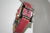 "*MBA #21-447  ""Croton Berry Stingray Strap Women's Stainless Steel Square Diamond Watch"