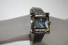 "*MBA #21-358  Croton ""Charcoal"" Women's Stainless Steel Square Diamond Watch"
