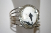 **MBA #21-612  White Turquoise Sterling Cuff Bracelet