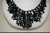 "**  Sterling 18"" Black Onyx Beaded Necklace"