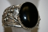 "**MBA #21-592  Artist Signed ""Priscilla Bagay"" LB"" Sterling Black Onyx Cuff Bracelet"