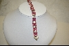 **Large Square Cut & Clear Cz Sterling Bracelet