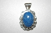 "**MBA #21-702  Artist Signed ""RC"" Fancy Denum Lapis Sterling Pendant"