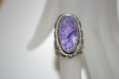 **MBA #21-639  Artist Signed Fancy Sugulite Sterling Ring