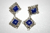 "+MBA #21-707  Artist Signed ""V. Chief"" Blue Lapis Sterling Earrings"