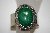**MBA #21-748  Large Sterling Malachite Cuff Bracelet