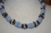 "**MBA #21-549  Ross & Simons Sterling Chalcedony & Multi Gemstone 19"" Necklace"