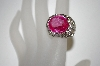 **MBA #21-558  Charles Winston Bold Created Pink Sapphire Ring