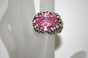 "**MBA #21-563  ""Charles Winston Pink & Clear CZ Butterfly Ring"