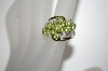 **MBA #21-217  10K Oval Peridot & Diamond Cluster Ring
