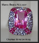 MBA #21-569  Charles Winston Created Pink Sapphire & Amethyst CZ Ring