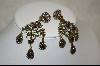 "*""Designer Heidi Daus  UTC Crystal Drop Clip On Earrings"