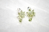 +MBA #21-408  Sterling Peridot Dangle Earrings