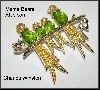 "MBA #21-294  ""Charles Winston Green Four Birds On A Branch Pin"