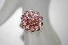 **MBA #21-283  Suzanne Somers Rose Gold Plated Pink CZ Ring