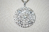 "**MBA #21-407  Charles Winston Round Cut CZ Pendant With 18"" Triple Chain"