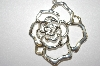**MBA #21-381  Large Fancy Sterling Rose Pendant