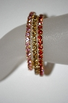 **MBA #21-311  Set Of 3 Stretch Crystal Bracelets