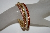 **MBA #21-312  Set Of 3 Gold Plated Stretch Crystal Bracelets