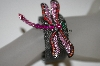 "**MBA #21-245  ""Antiqued Metal Mesh Dragonfly Bracelet"