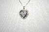 **MBA #21-215  10K 2 Tone Diamond Heart  Pendant With Chain