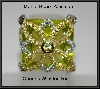 MBA #21-399  Charles Winston Pave Canary & Clear CZ Ring