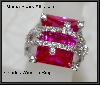 MBA #21-097  Charles Winston Created Pink Sapphire & CZ Ring