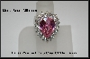 MBA #21-111 Charles Winston Pink & Clear CZ Dazzle Ring