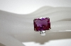 Charles Winston Created Purple Sapphire & Clear CZ Ring