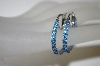 +MBA #21-288  Sterling Inside Out Blue Sapphire Hoop Earrings