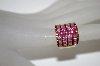 **MBA #21-345  14K Gold Plated Sterling  Created Pink Sapphire Tonal Ring